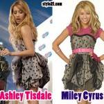 Mmismo vestido: Ashley Tisdale  y Hannah Montana